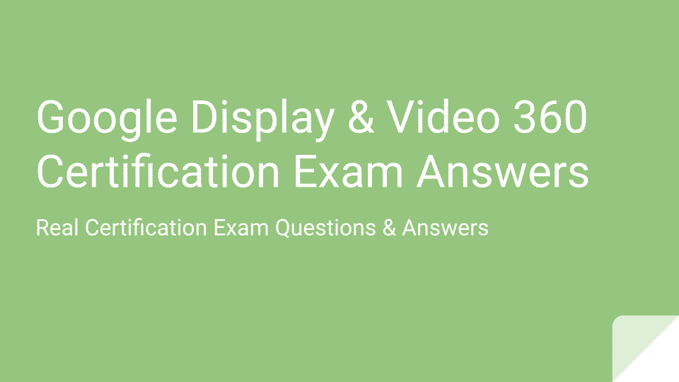 Display And Video Certification Exam Answers