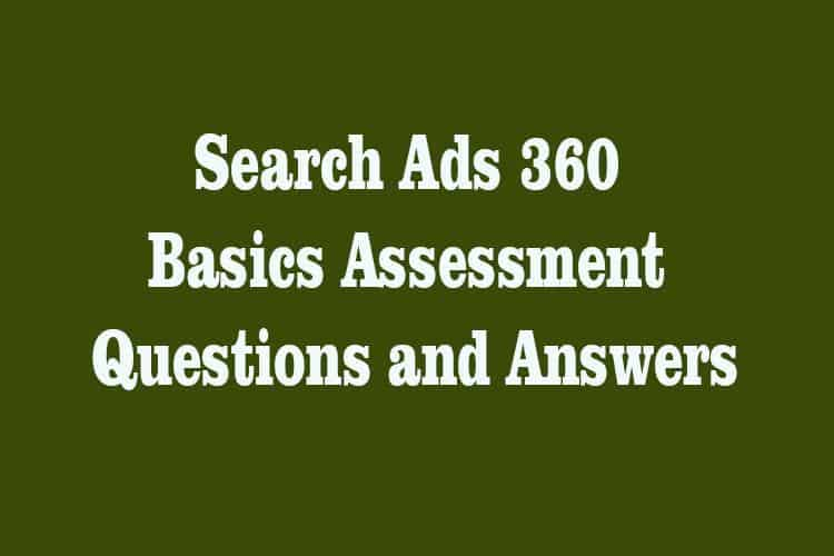 DoubleClick Search Basics Answersheet
