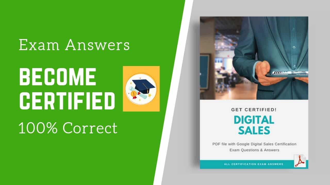 google digital sales exam Answers